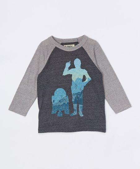 Charcoal & Gray C-3PO & R2-D2 Raglan Tee - Infant, Toddler & Boys