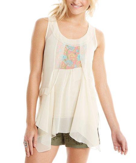 Matilda Jane Clothing White Palisades Top - Women | zulily