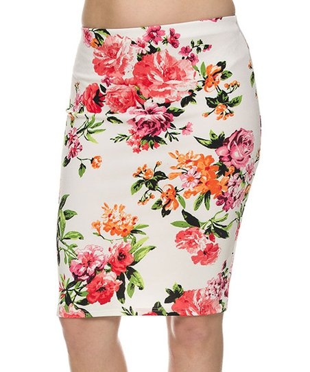 2ne1 apparel pink floral pencil skirt zulily