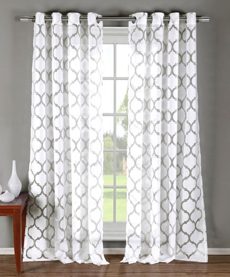Duck River Textile White Matson Burnout Curtain Panel Set Of Two Zulily