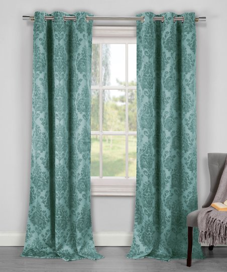 duck river textile teal phelan blackout curtain panel set of two