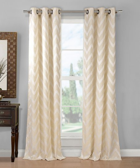 Duck River Textile Linen Chevron Curtain Panel Set Of Two Zulily