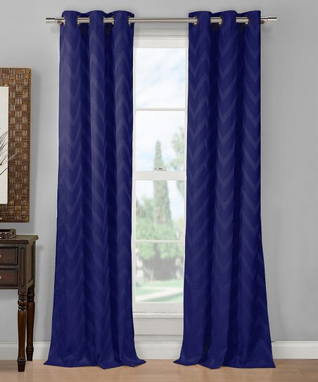 duck river textile navy chevron curtain panel set of two zulily