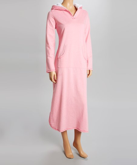 ... Leeds International Pink Hooded Nightgown - Women & Plus | zulily