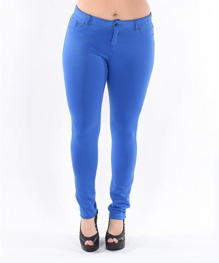 Unique Royal Blue Pants Palazzo Womens Large 35quot X 315quot Polyester  EBay