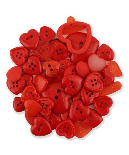 Heart Shaped Button - Set of 100