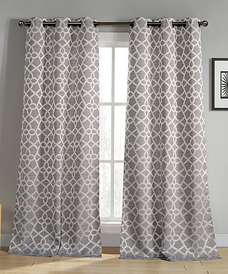 Silver curtain panels