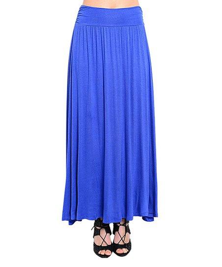 royal blue maxi skirt zulily