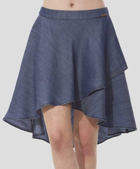 timeout summer denim hi low skirt zulily