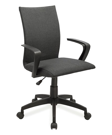Leick Furniture Black Linen fice Chair