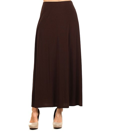 pretty thing brown maxi skirt zulily