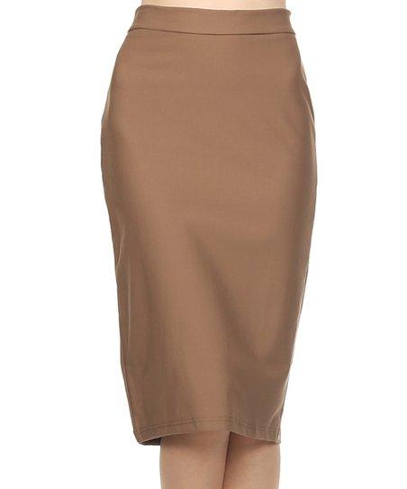 bellaberry usa khaki bodycon pencil skirt zulily