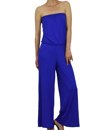Original Chic Royal Blue Jumpsuit  Backless Jumpsuit  TaperLeg Jumpsuit