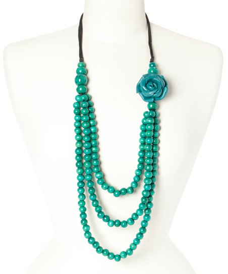 turquoise bead multi strand necklace