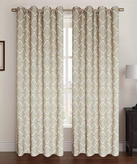 Kashi Enterprises Taupe Celine Curtain Panel - Set of Two | zulily