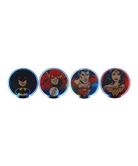 Dc comics lighted coaster set of four zulily - Lighted coaster ...