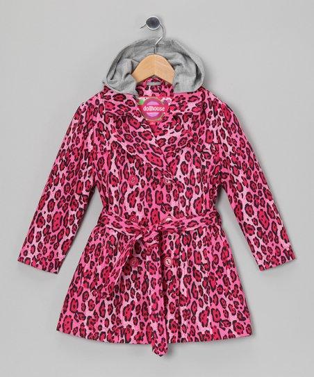 Leopard Trench Coat - Toddler & Girls