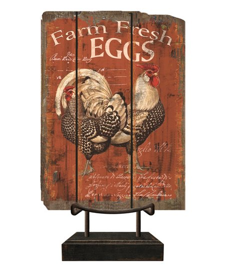 Red Chicken Tabletop Sign