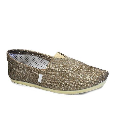 shoes of soul gold glitter slip on shoe zulily