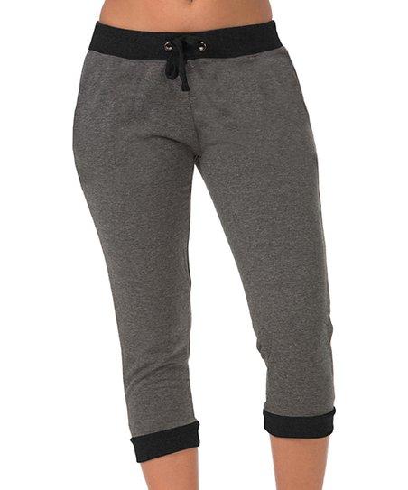 Perfect Charcoal Gray Drawstring Joggers  Women