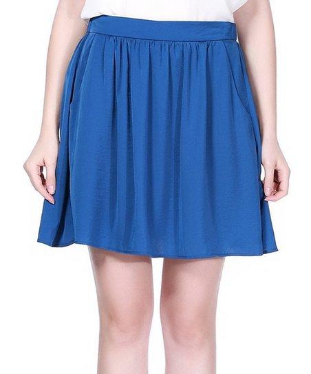 zuri zuri by flora royal blue pleated skirt zulily