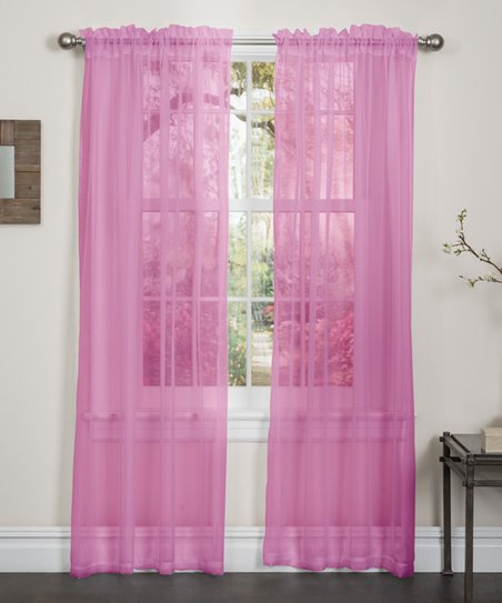 kashi enterprises hot pink lisa sheer curtain panel set of two