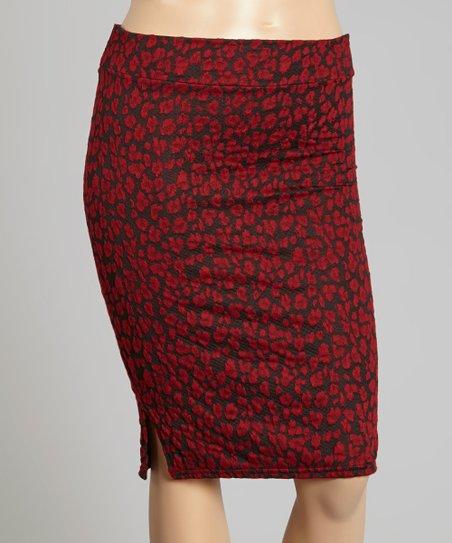 all fashion usa black floral pencil skirt plus