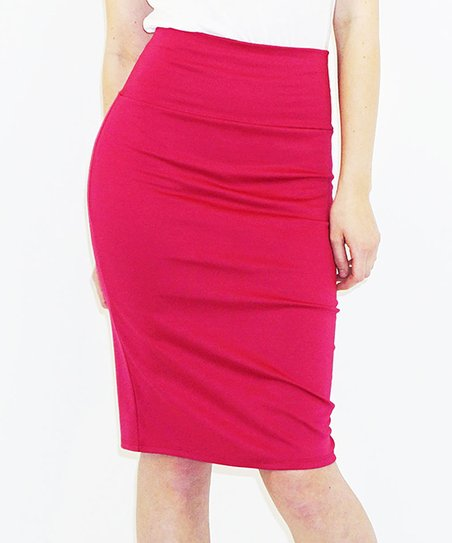 bleu summer magenta pencil skirt zulily