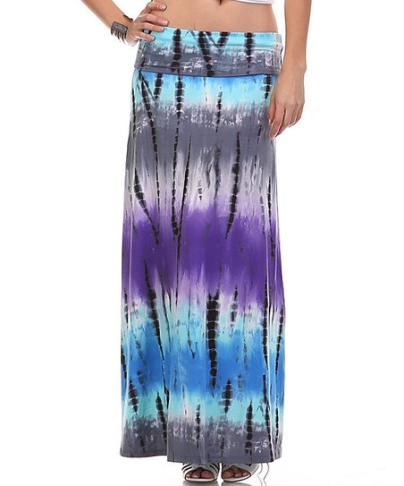 purple tie dye maxi skirt