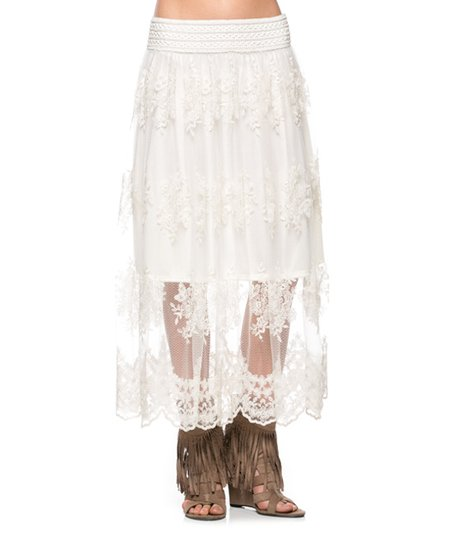 jm clothing white lace maxi skirt zulily