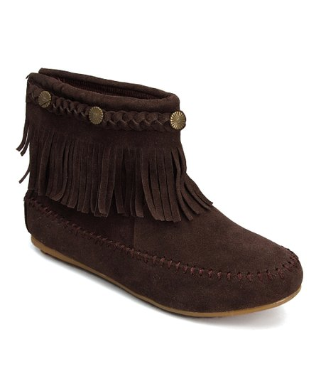 shoes of soul brown fringe ankle boot zulily
