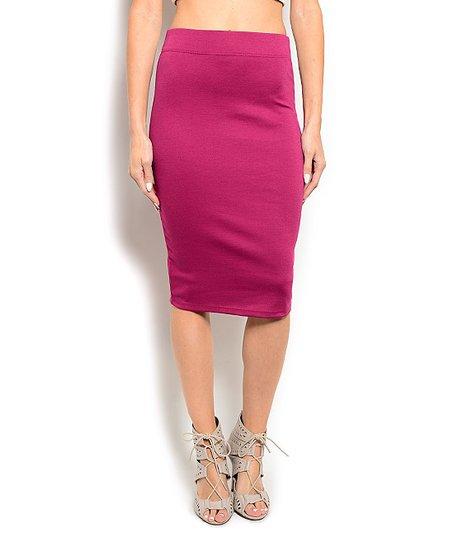 purple pencil skirt zulily
