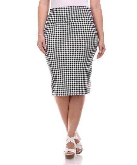 bold beautiful black white checkerboard pencil skirt