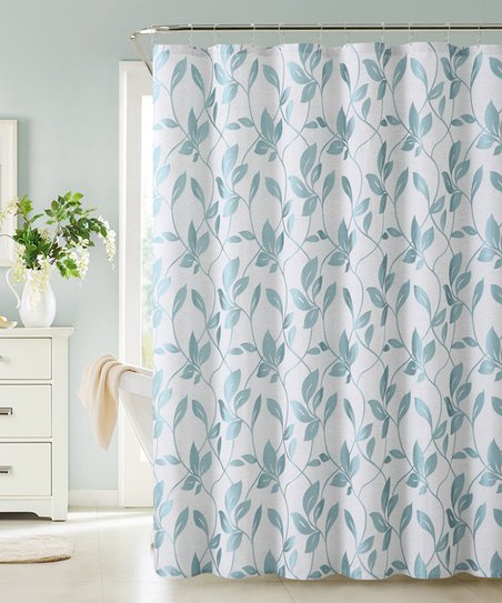 Blue Brier Leaf Shower Curtain
