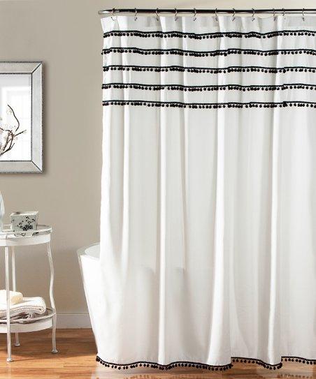 Black Quinn Shower Curtain