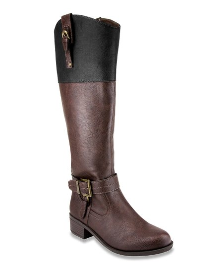 brown black two tone boot zulily
