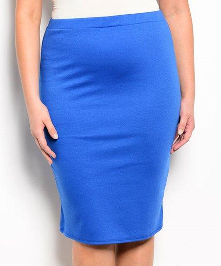 royal blue pencil skirt plus zulily