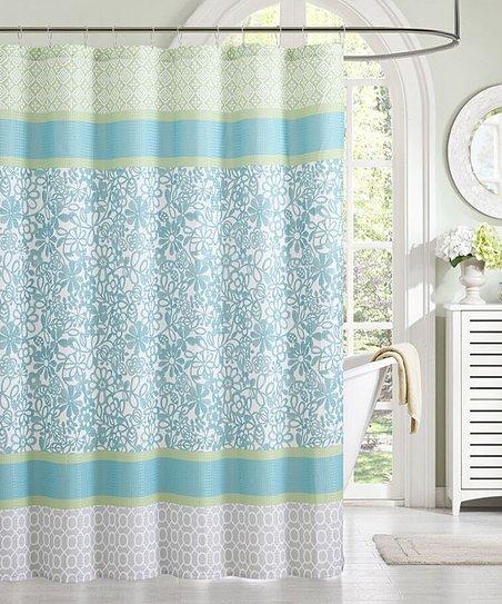 Floopi Teal Green Emerson Shower Curtain Zulily