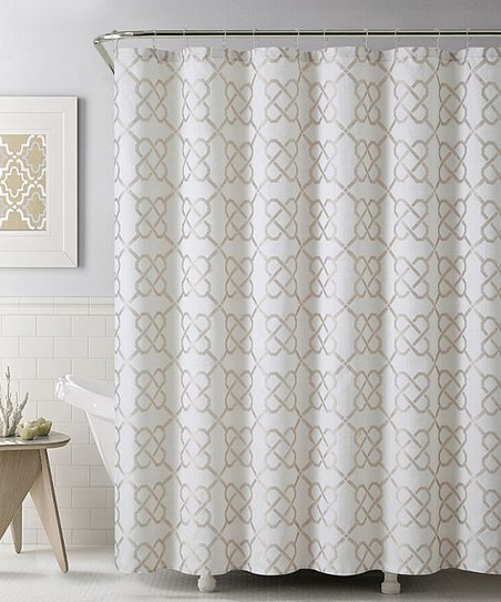 Floopi Taupe Lincoln Shower Curtain