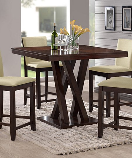 baxton studio everdon five piece modern pub dining room