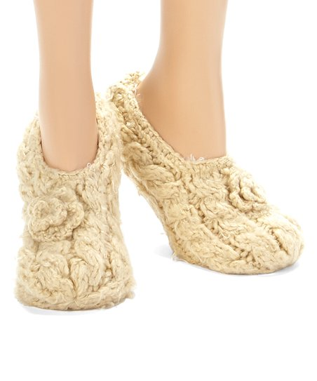 Biscuit Braided Bootie Socks