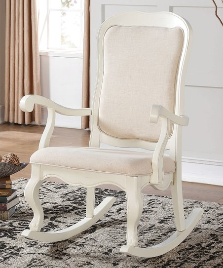 Acme Furniture Inc. Antique White Sharan Rocking Chair  zulily