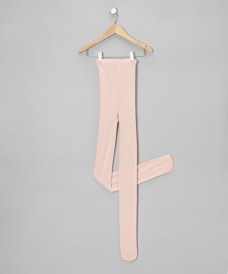 Pink Supersoft Footed Tights - Women