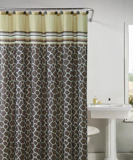 Victoria Classics Yellow Brown Khadi Shower Curtain Set Zulily