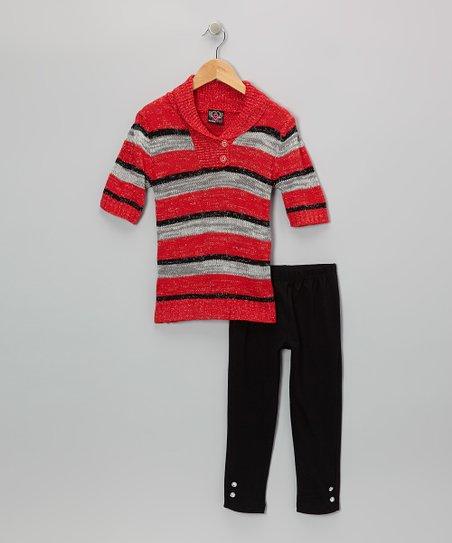 Red Stripe Tunic & Leggings - Infant