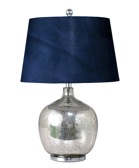 navy blue mercury glass table lamp zulily. Black Bedroom Furniture Sets. Home Design Ideas