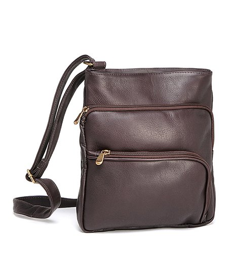 Café Double L-Zip Crossbody Bag