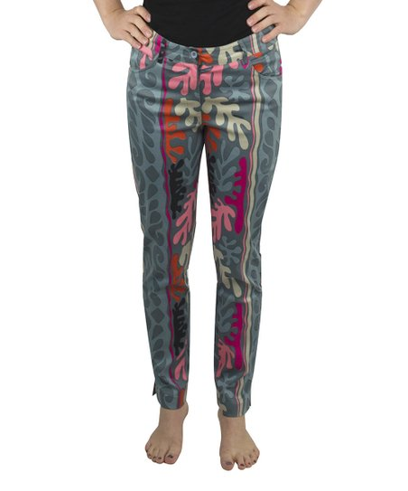 Coral & Gray Matisse Jeans