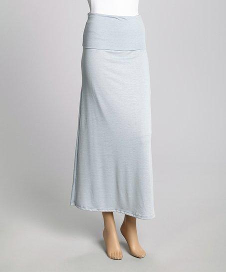 casa gray maxi skirt zulily