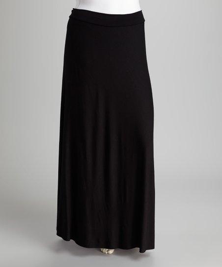 black maxi skirt plus